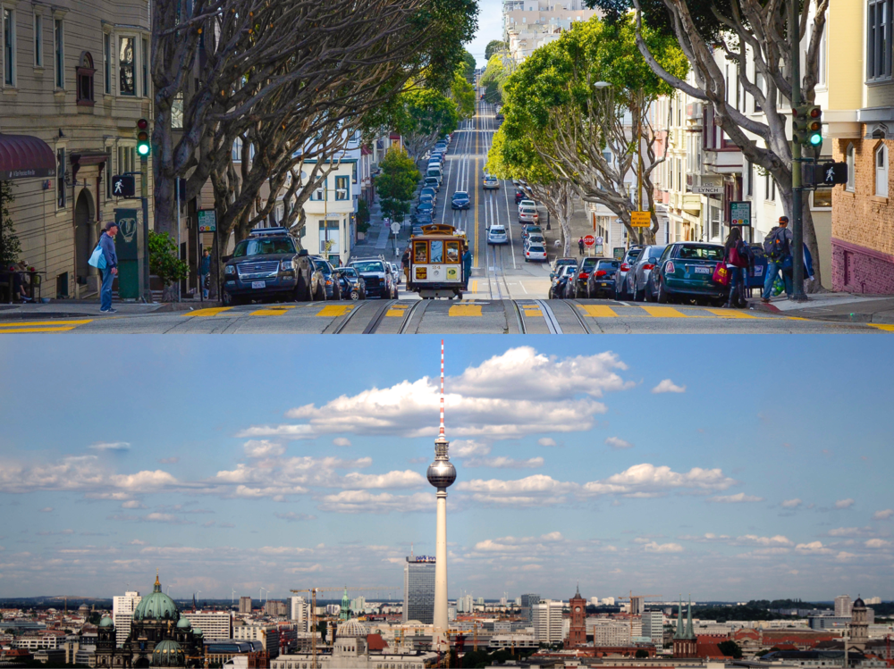 San Francisco and Berlin are calling - Our San Francisco office is located right at the footsteps of Silicon Valley, which provides us with access to a global customer base from which each firm has an outlet of some sort in the Bay Area. At the same time, there is a strong VC and founder network that helps us define our path, vision, and leadership style. The latest tech ideas are born here—and we have direct access to this awesome network. Our Berlin office is located in one of Europe's top startup hot spots, and at the same time it is in close proximity to the HQ of some of our customers like Daimler and BMW—we're constantly learning from leading companies in the industry, which helps us develop the best possible product.