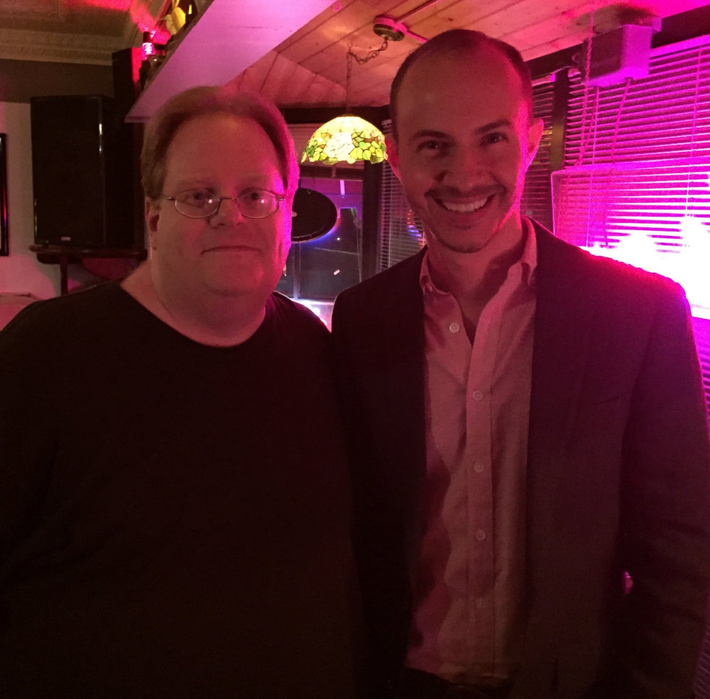Collin Kelley and Steven Reigns at Ugly Mug reading in 2015
