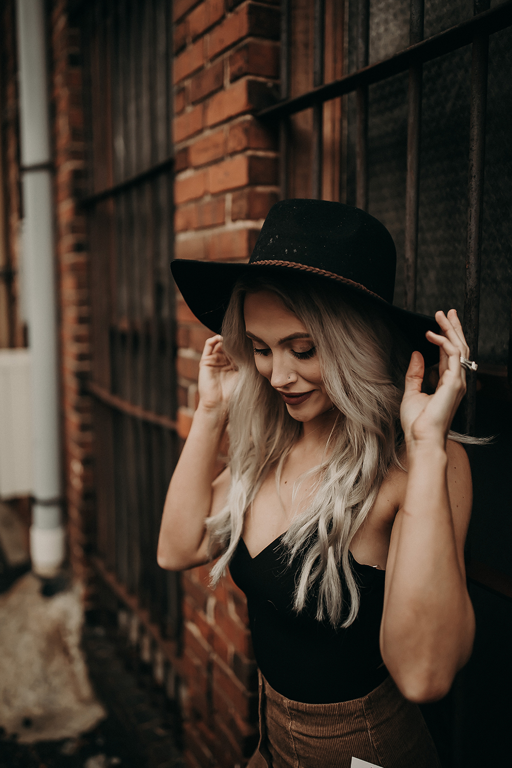 Beautiful Woman in a Fashionable Hat