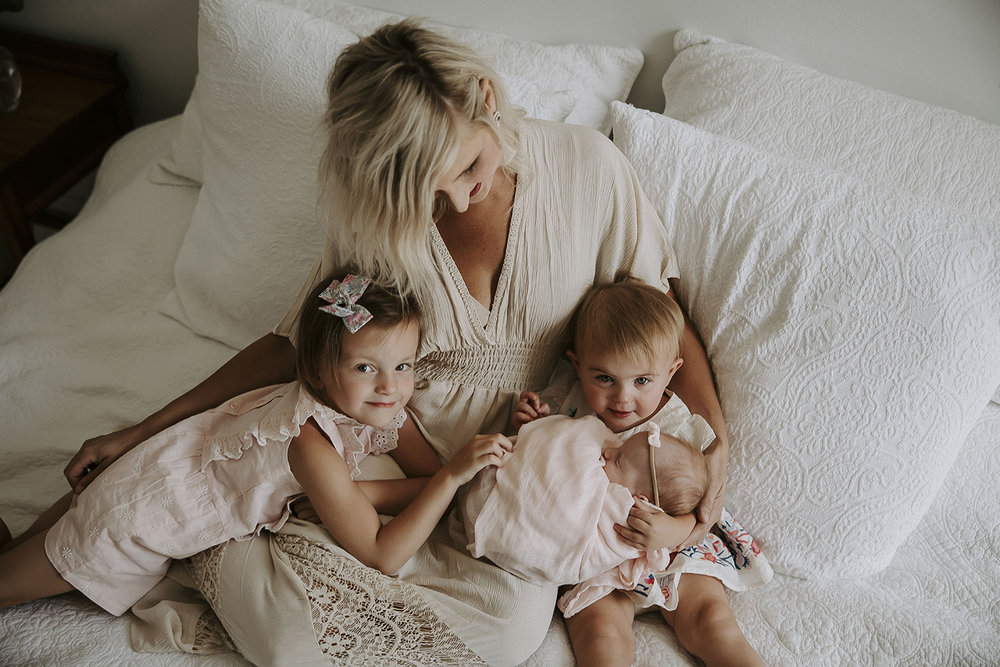 Mother with Her 3 Young Daughters