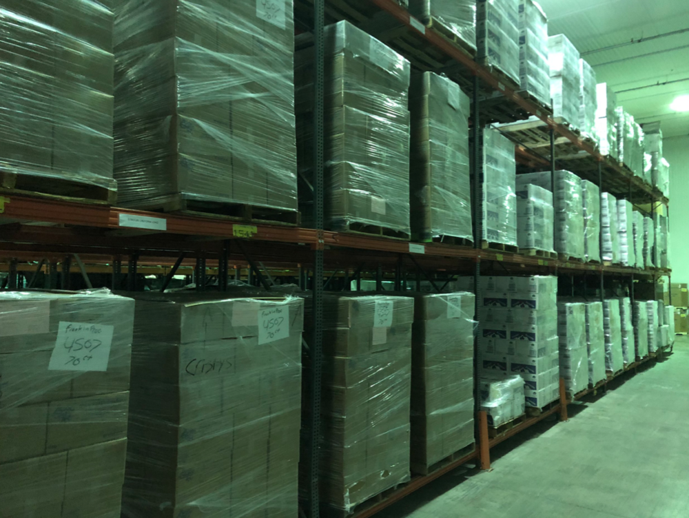 Cold Storage   Have products that need to stay chilled? We have what you're looking for! We offer 450,000 Cubic feet of Cold Storage for your needs with -20 degrees of temperature control.