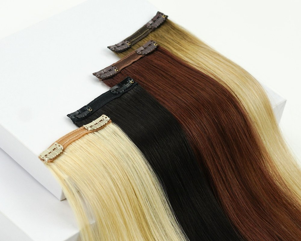 JOI HAIR CLIP-IN SETS - Lengthening and thickening the overall look of your hair is a cinch with our clip-in hair extensions. Our clip-in weight varieties are perfect for any hair density, giving any girl the hair of her dreams.