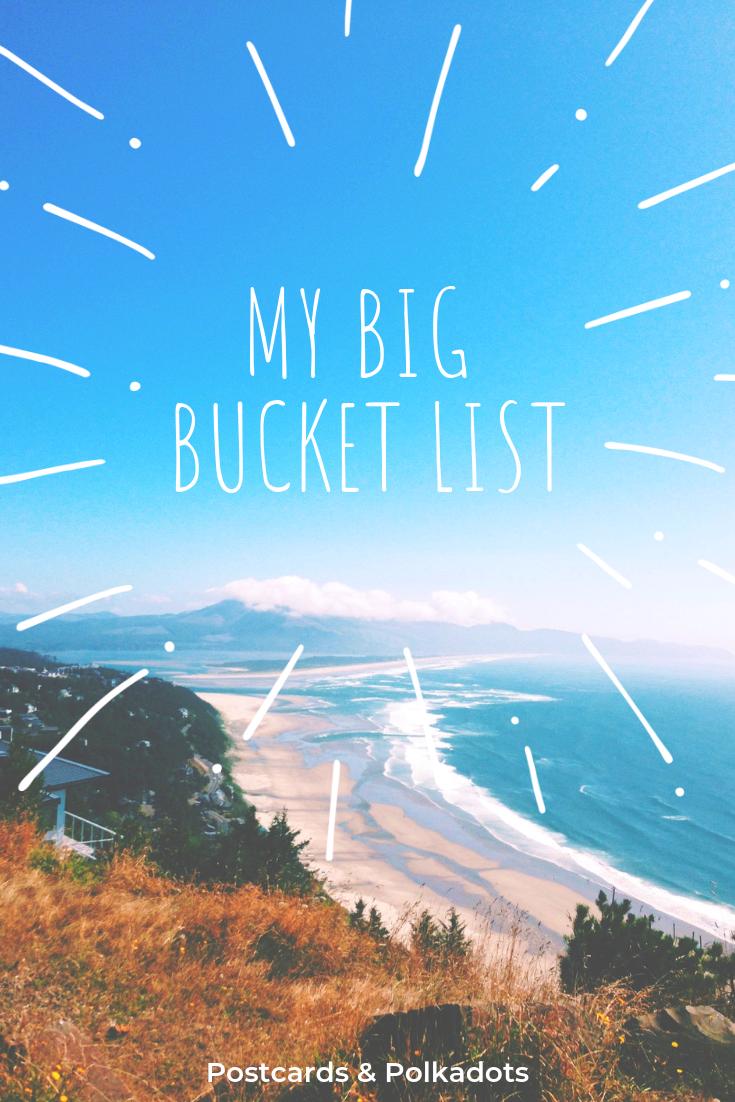 My Big Bucket List