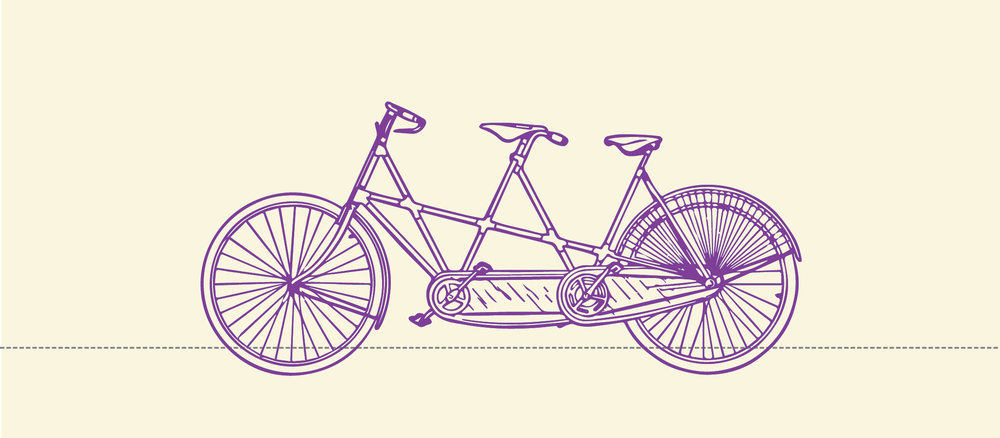 Purple Tandem Bike on cream narrow.jpg