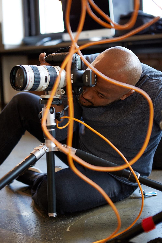 Roocastro Fashion Photographer using camera