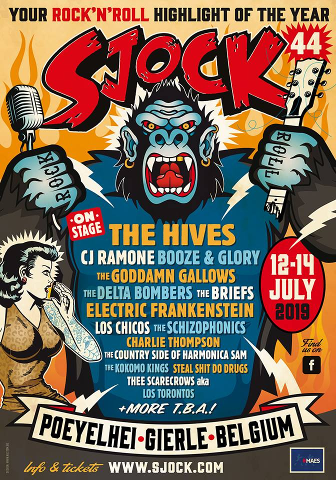 Sjock 44 - We'll be in great company at Sjock 44 in Belgium this year!We'll be playing Saturday, July 13th