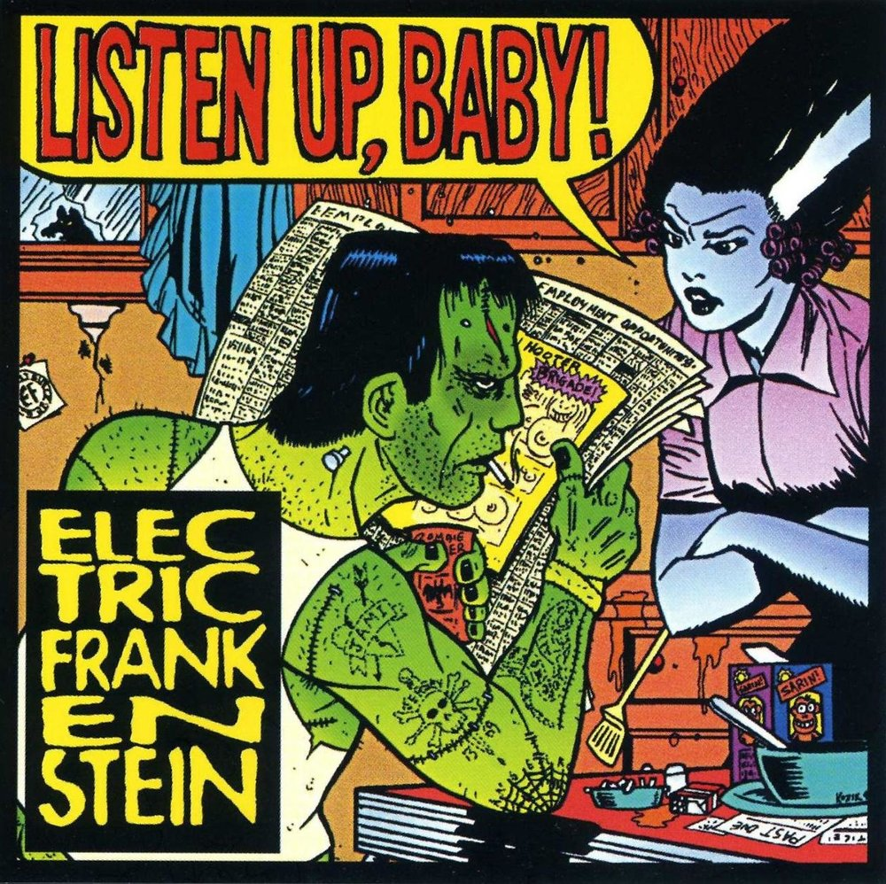 Listen Up, Baby! - 10. Listen Up, Baby!-TKO Records- USA 2003produced by Sal CanzonieriAlbum length re-issue of Man's Ruin Record, with extra songs.1. Listen Up, Baby!2. Neurotic Pleasures3. Hostage Situation4. Social Infections5. Hammered6. Takin' It All7. Rocket in My Veins8. You're So Fake9. Perfect Crime10. Nail It Down11. Rock N Roll is Dead (Rubinoos cover)12. Final Damnation13. Crank Action