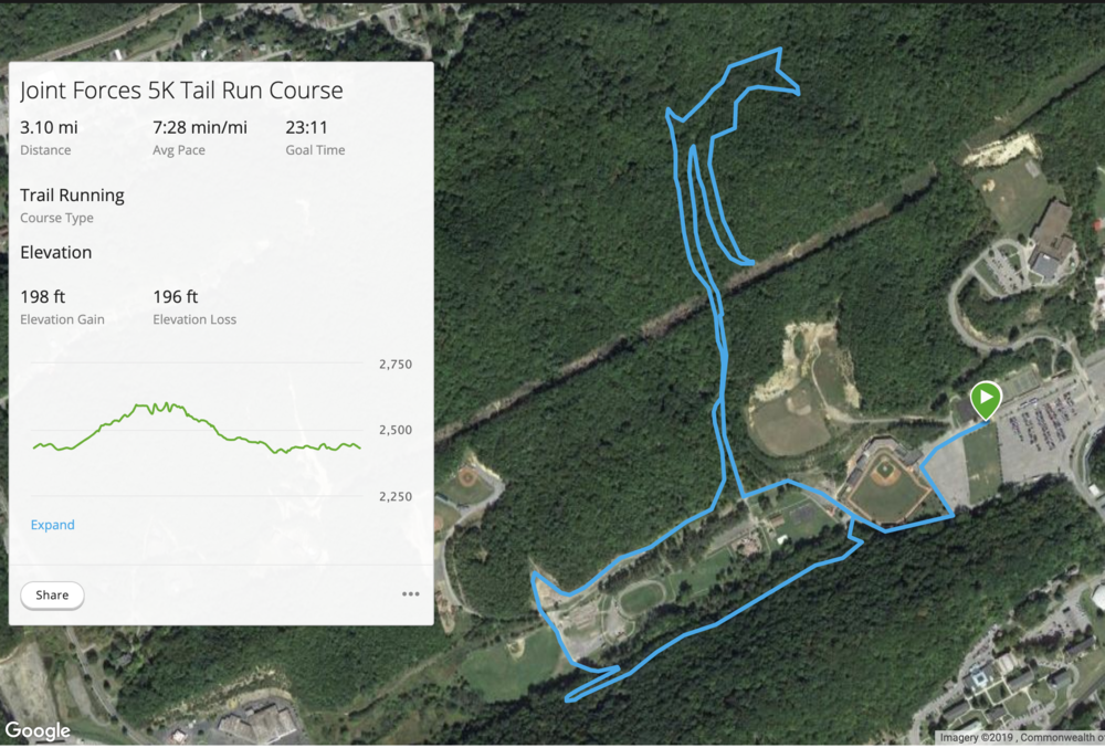 You can see this Google Maps image gives you a rough estimate of where you'll go- pay attention to the elevation gains.  Most of the course is single track  (meaning for 1 person at a time), so pace accordingly.