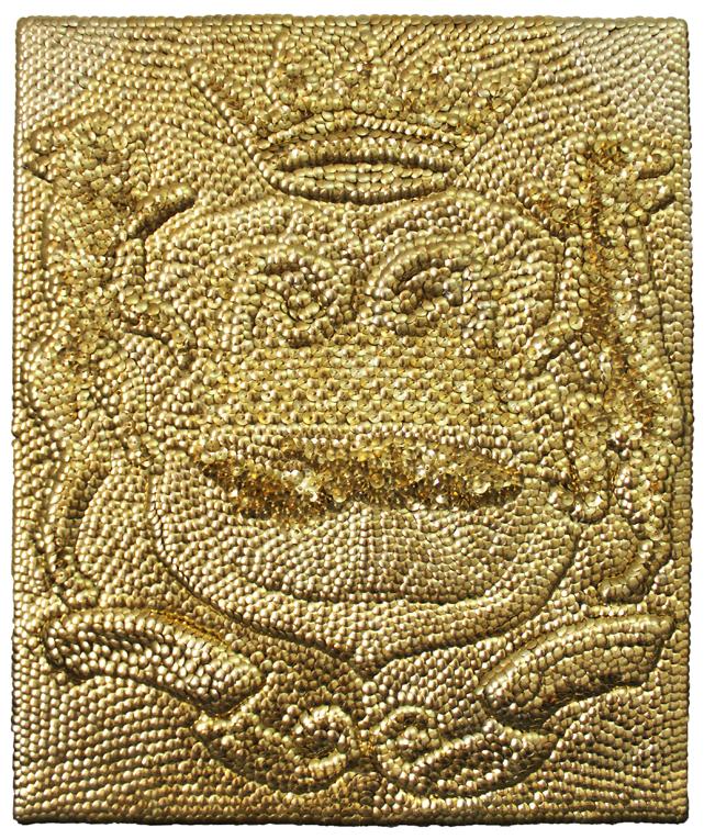 Numinous, 2016 - Brass on wood, 60 x 50 cm (23.6 x 19.6 in.)
