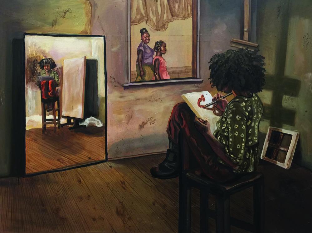 Adeyemo-Ross_Sophia_ArtistPaintsSelfwithUndertonesofIdentity.JPG