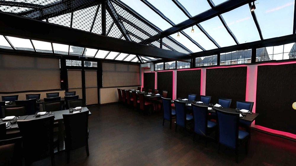 the empty Venue5 Lounge