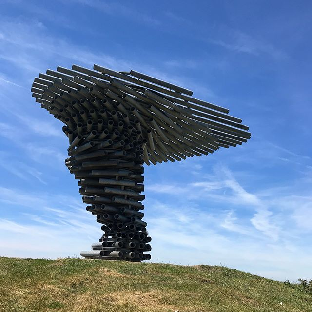 Tracked down this musical sculpture, tuned to make a soundscape when the wind blows 🎼 Must have picked the stillest day of the year to go though so it was resting it's pipes 🙃