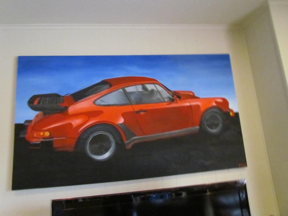 My Porsche oil painting