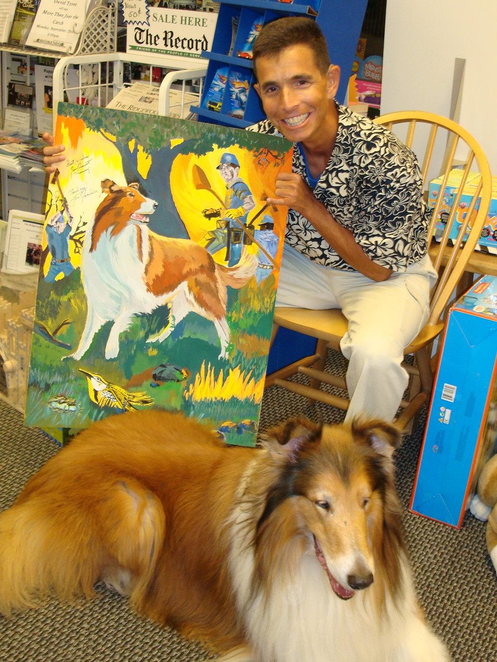 My Acryllic Painting of Lassie