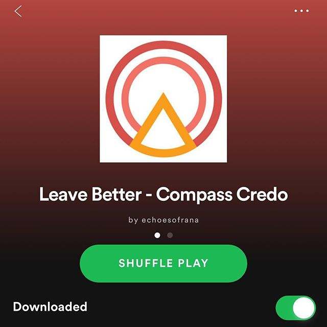 A bunch of new tracks added to the Compass Credo playlist on Spotify to take you into the weekend. Making mixes is a lifelong love of mine. Enjoy the vibes!  #compasscredo #spotifyplaylist