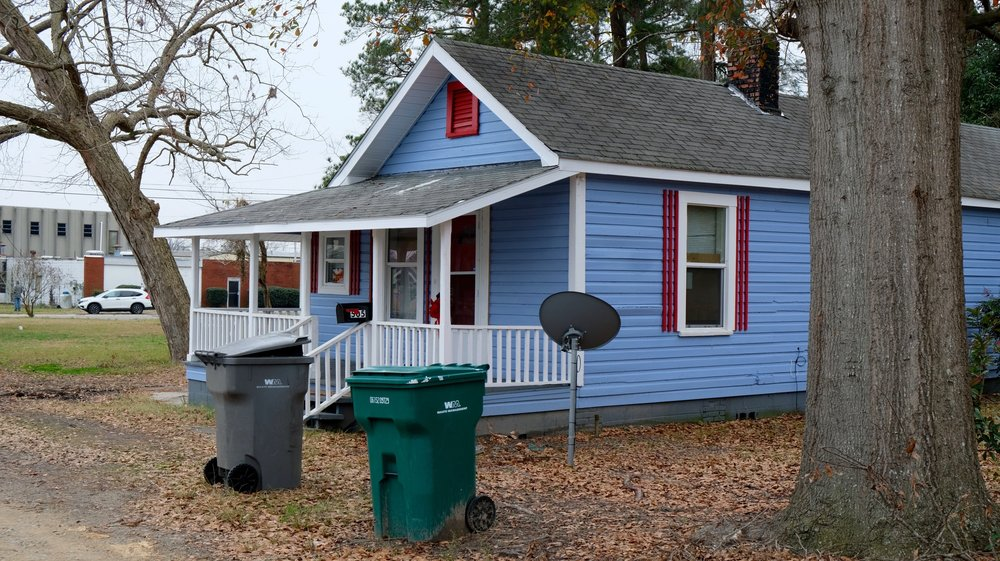 The home where Kristin Bennett was found dead in a television cabinet. The house has since been renovated and is being rented out. (Photo by Russ Bowen)