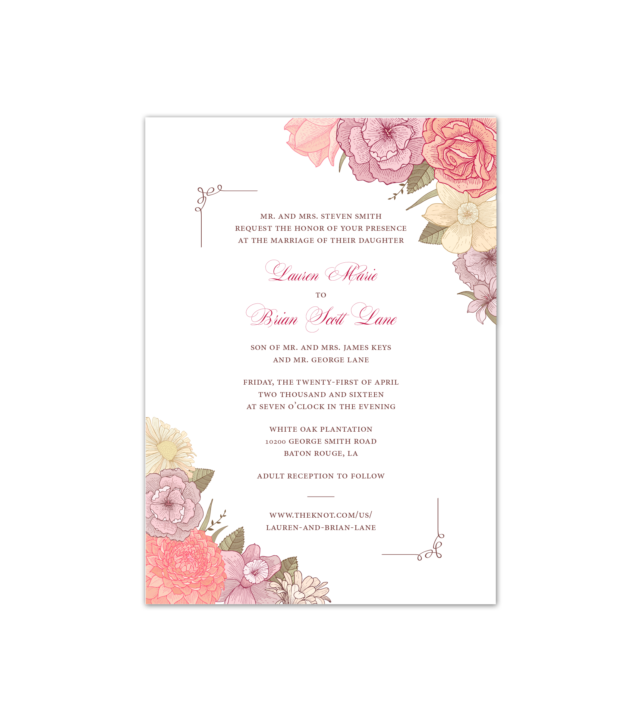 image regarding Printable Rsvp Card identified as Do it yourself Printable Light Flower Invitation RSVP Card cmbdesignz