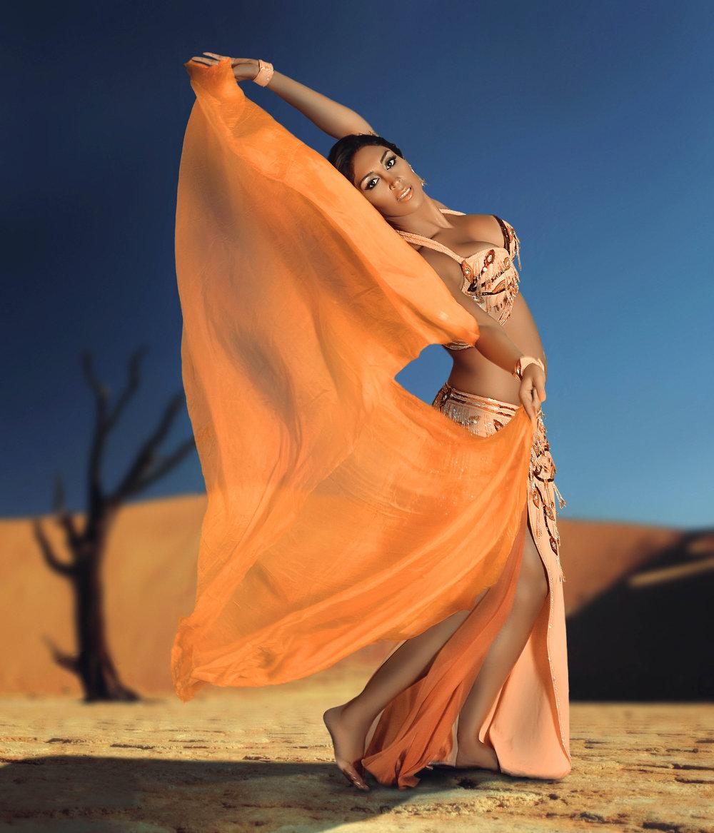Pegah Belly Dancer Peach 1.jpg