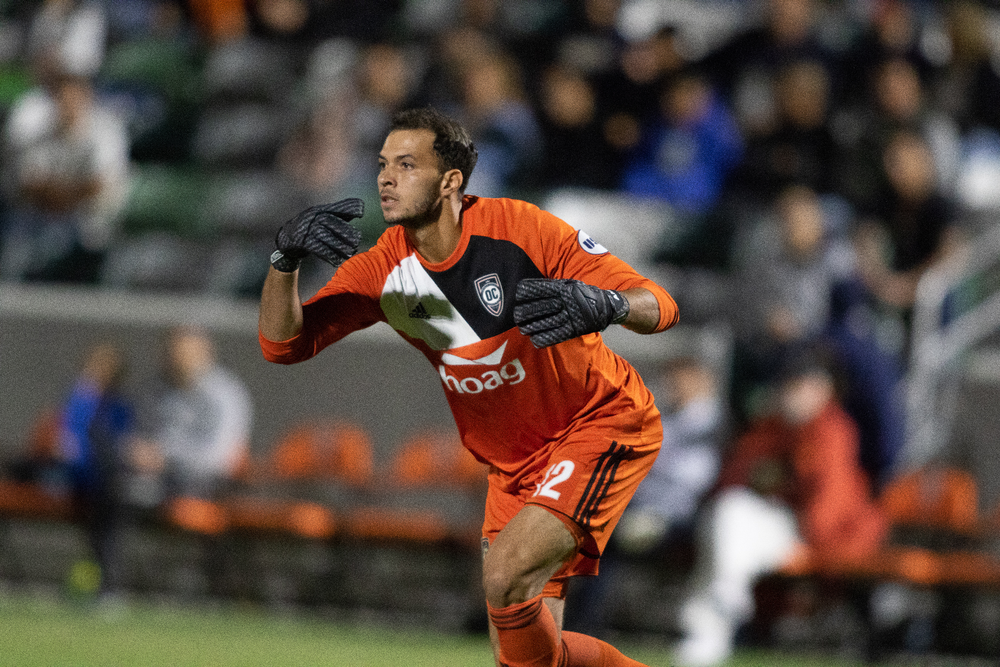 Former Orange County SC keeper Andre Rawls | Photo courtesy of Orange County SC