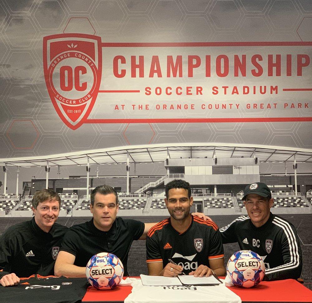 Orange County SC announce newest signing, defender Leonardo | Photo courtesy of Orange County SC
