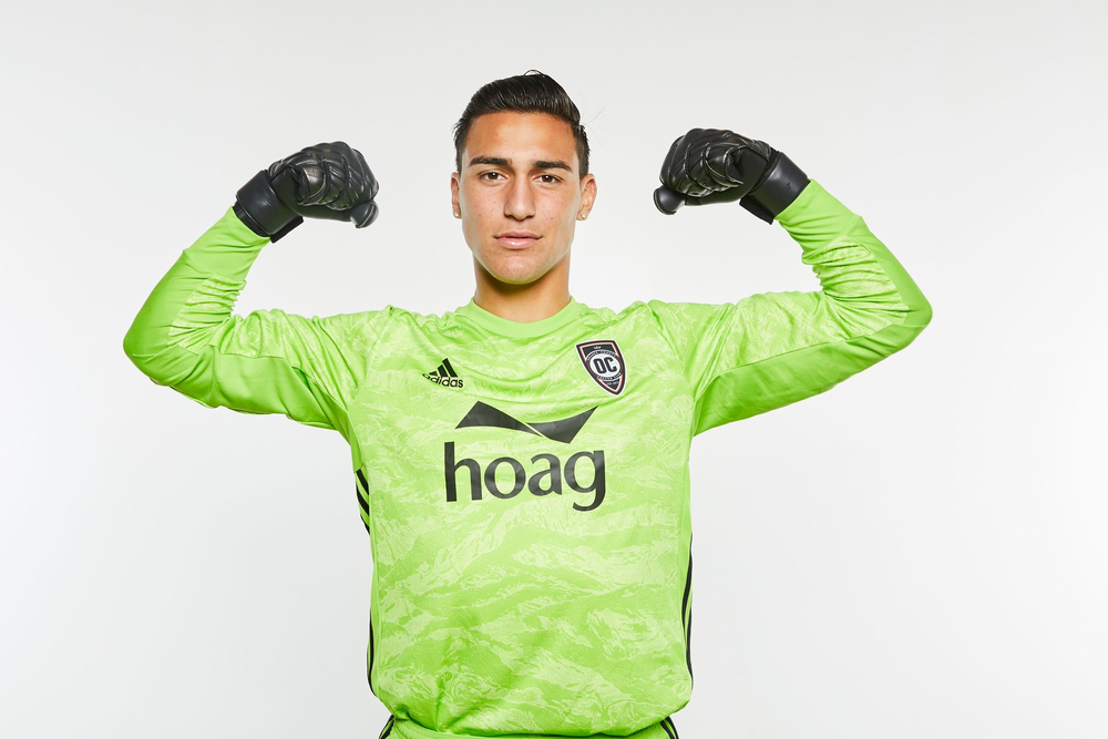 Aaron Cervantes made his professional debut against New Mexico United | Photo courtesy of Orange County SC