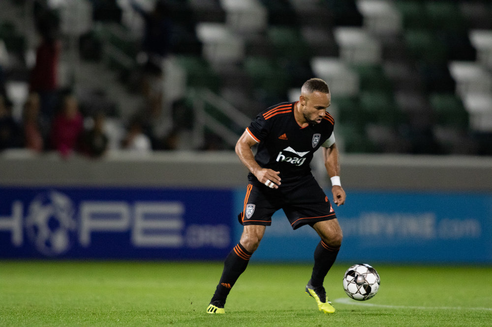 Orange County SC fullback Kevin Alston.  |  Photo courtesy of Orange County SC