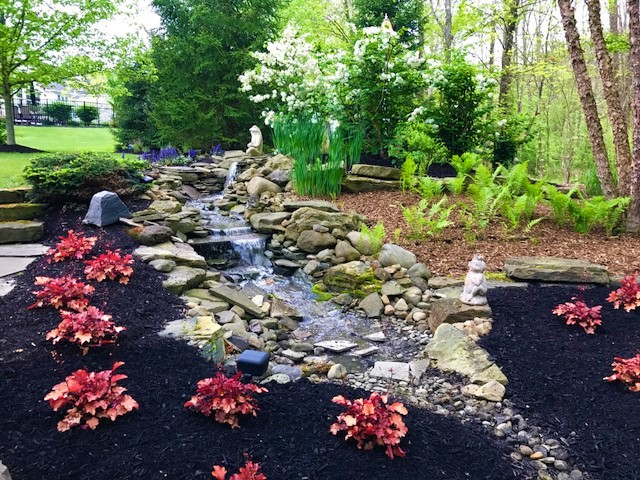 Landscape design with water features in Chagrin Falls OH