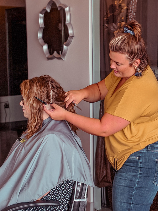 KC trains Kansas City stylists on how to best style and take care of waves to ultra curly hair.