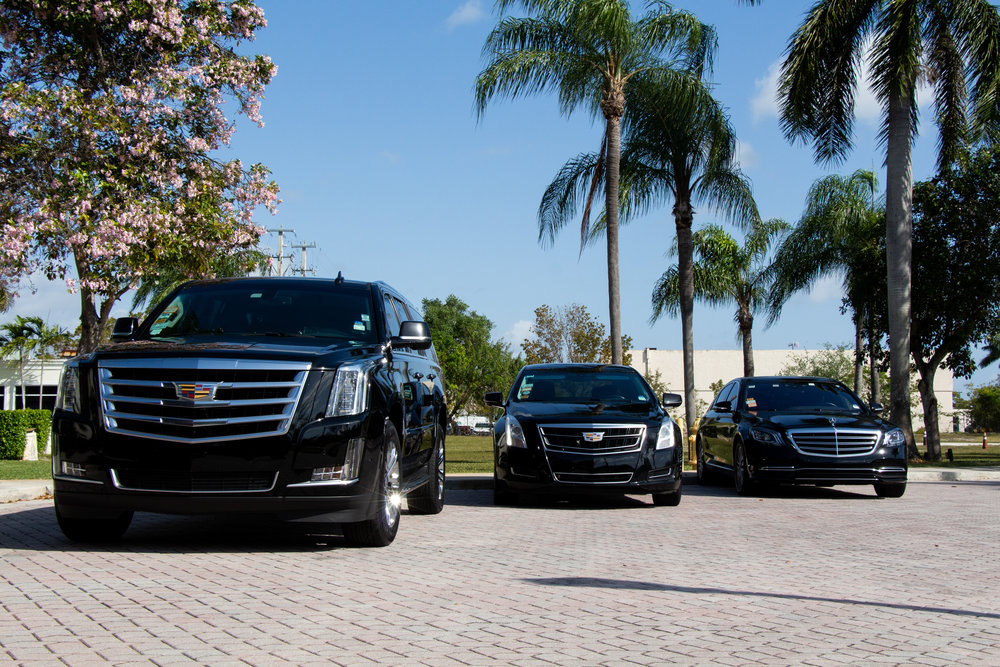 Cadillac Escalade ESV, Cadillac XTS, and Mercedes E350