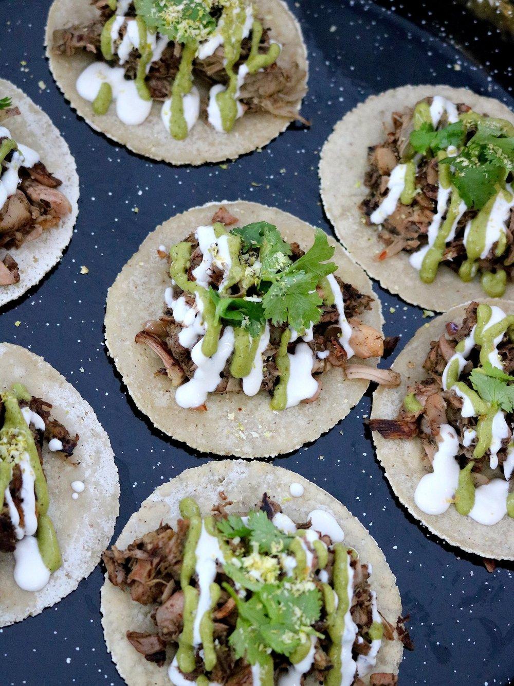 Jackfruit Pipian Verde Tacos