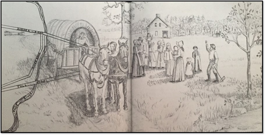 Drawing from Leone Schmidt's book In and Around Warrenville