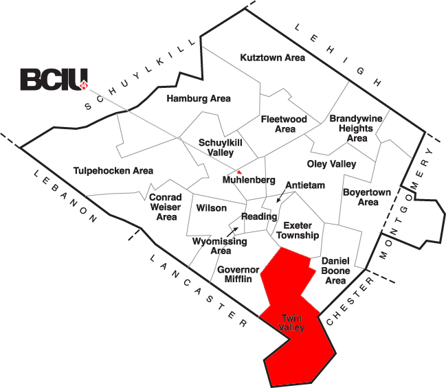 Berks County School District Map - Twin Valley.png