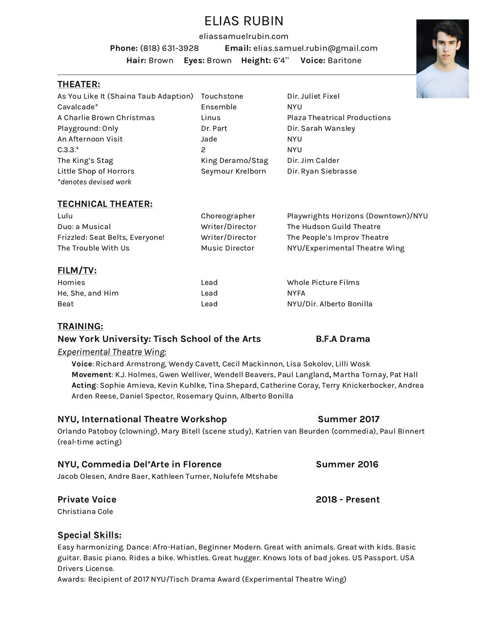 Click here to download my resume!