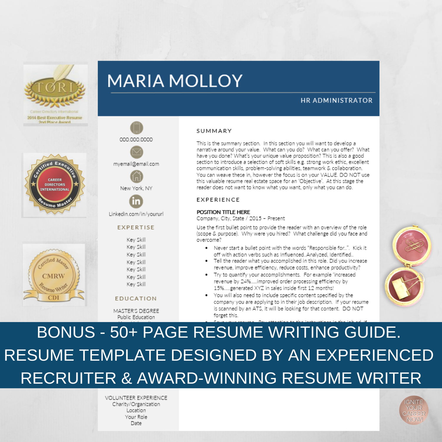Modern Resume Template - Accountant & Other Professions — Ken Docherty