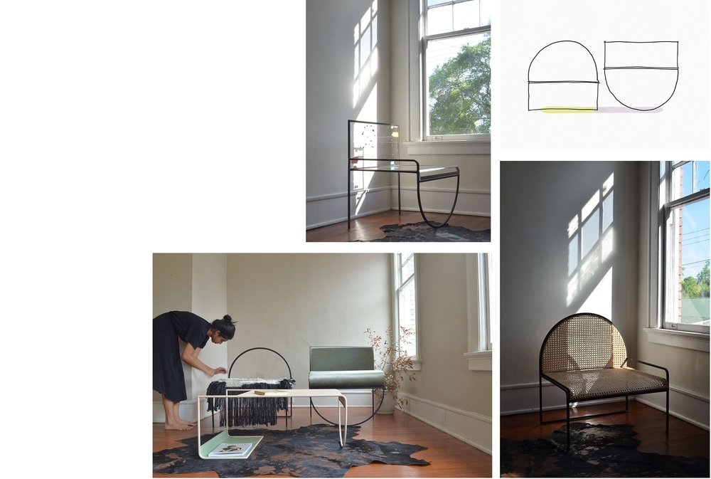 Photographs of the first prototypes of the sw collection, shot in our grad school home in Savannah Georgia.