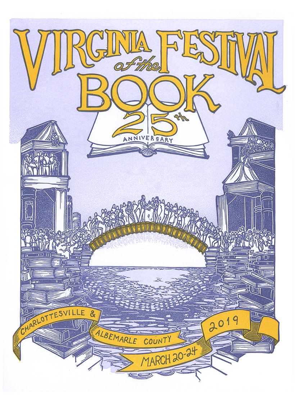 Virginia Festival of the Book poster by Lana Lambert.