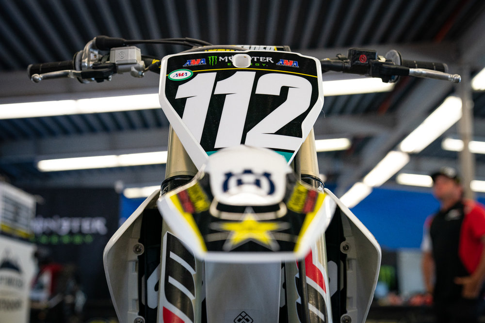 """What's the difference in motorcycles like between Supercross and MXGP? Thomas Covington is finding out the hard way and he told us it's still something he's working out with the Rockstar Energy Husqvarna Factory Racing team. """"I'm not used to it and am trying to find some comfort out there,"""" he told us after the race. The feel of a stiffer chassis and suspension necessary for the fast-paced and successive obstacles of Supercross is quite different than the softer feel that riders prefer for the rolling, flowing layout of MXGP. As for Daytona, the unique track was something new for Covington, as he was told to expect """"an outdoor race on the speedway"""" but instead found a Supercross track with long rhythm lanes."""
