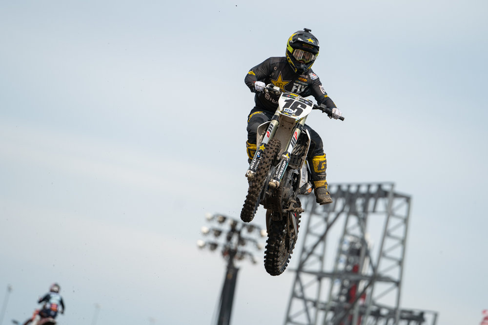 Hang it out. Zach Osborne and Dean Wilson have completely opposite body types and bike setups, so we asked the Rockstar Energy Husqvarna Factory Racing team to fill us in on the details and differences of the two riders. Check back in a few days for a rundown.