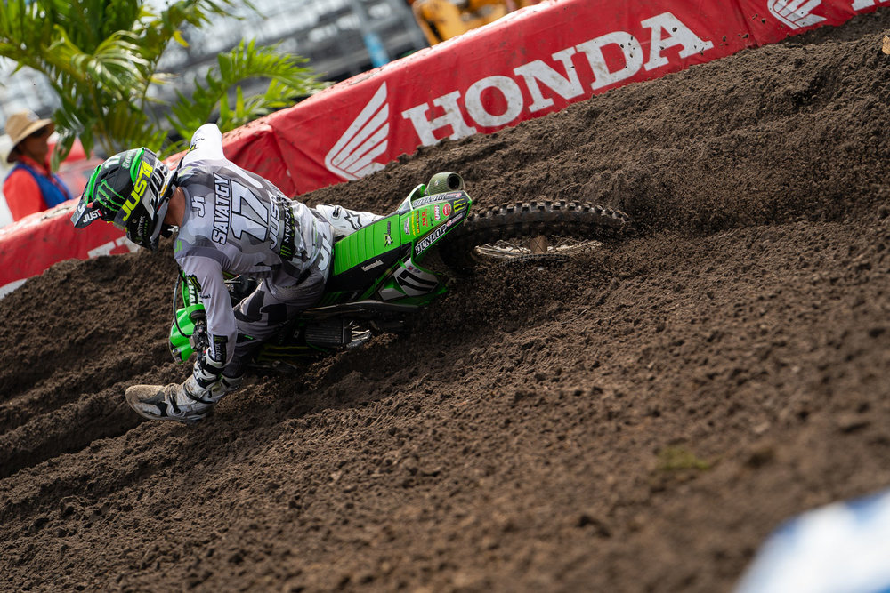 Rookie of the year. Joey Savatgy came into the season with a factory ride at Monster Energy Kawasaki and an-almost win at the 2018 Monster Energy Cup, so his success shouldn't be a big surprise, but the number 17 has been impressive at nearly every round. With a another fifth place at Daytona (his third top-five of the season) Savatgy will certainly land on a factory bike in 2020.