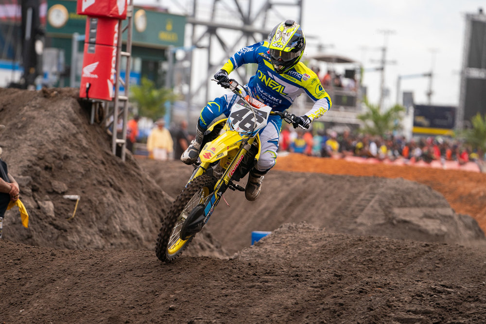 Justin Hill's rookie season has been rocky, something the JGRMX/Yoshimura/Suzuki Factory Racing rider acknowledges, but Hill showed some of the speed that impressed so many last year at Daytona over the weekend. A good start put him near the top of the field in the early laps and he hopped his way around the technical track to a season-best seventh place finish. Should this finish motivate Hill, expect him to improve over the next few weeks. And yes, contrary to some talk that he can opt out of the Nationals, he tells us he will be on the line come Hangtown.