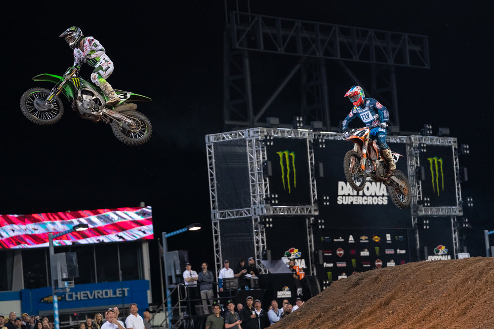 What's better than one rider going off the wall? How about two.