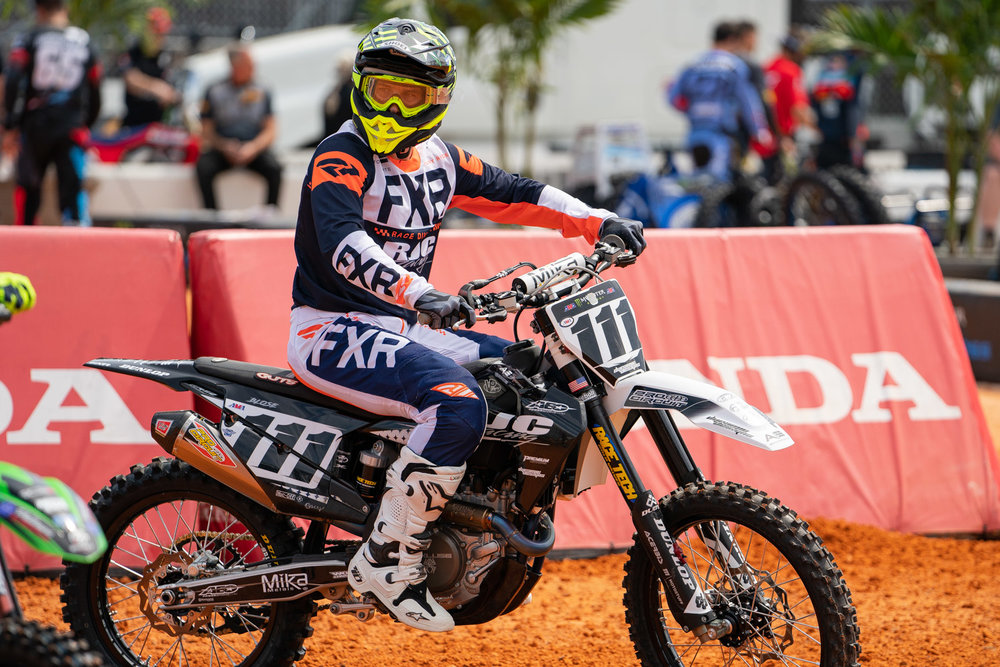 Chris Blose lined up at Daytona in the 450 class and the 250 West Coast region rider did very well against the premier class. Blose made the Main Event via a top-four finish in the LCQ, then logged laps in the feature for a seventeenth-place result. Blose will be back with the Gas Monkey Energy/AJE Motorsports Husqvarna team in Seattle.