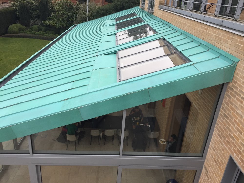 SAID BUSINESS SCHOOL - In 2016 the well known Said business school in oxford extended. With pre pat copper used on large sections of the building already this extension fits seamlessly into the surrounding buildings.