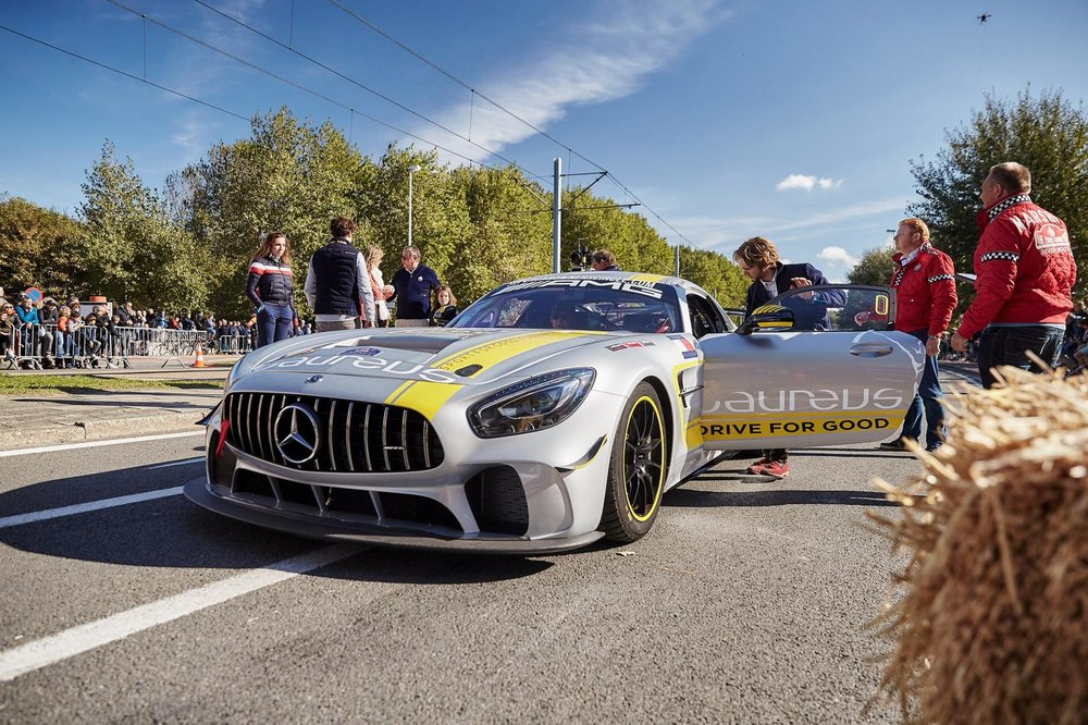 Zoute Grandprix - 4 & 5 Oktober 2018 Knokke, BelgiumVery exclusive rally with original oldtimers. Our Laureus AMG-GT4 drove the a part of the rally to raise money for Laureus.