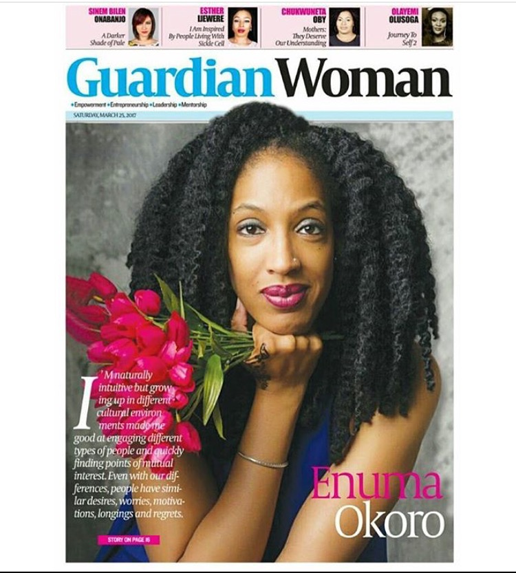 """THE GUARDIAN INTERVIEW - """"Enuma Okoro was raised in four countries on three continents. It is no surprise that her work focuses increasingly on issues of culture and identity. In this interview she talks about her fascination with cultures and how people form a sense of identity, her belief that story is at the center of everything, and her passion and calling as a writer and storyteller"""""""