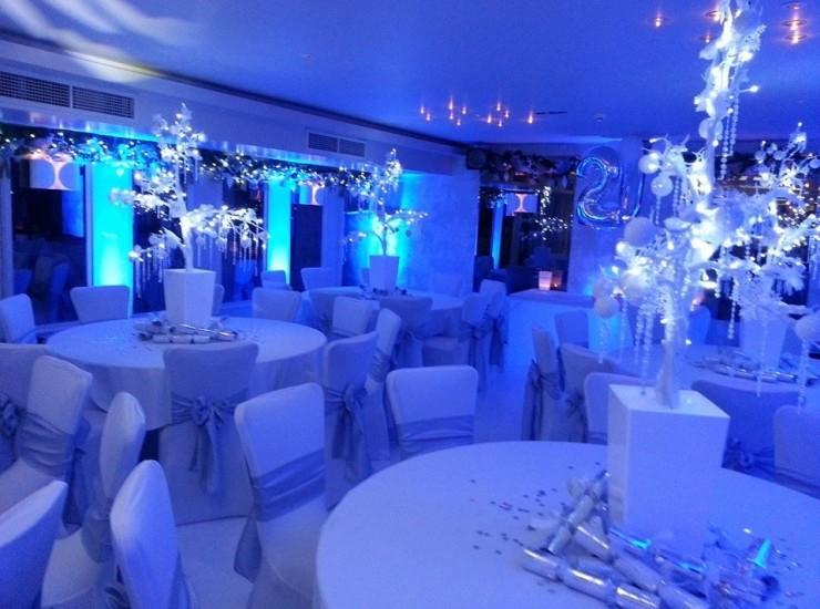 Vincent Hotel Blue Winter Lighting