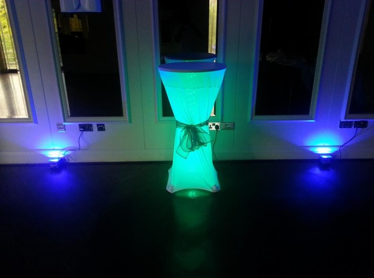 Green Poseur Tables