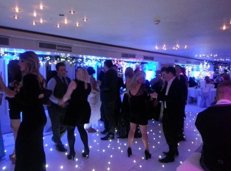 Uplights on Dancefloor