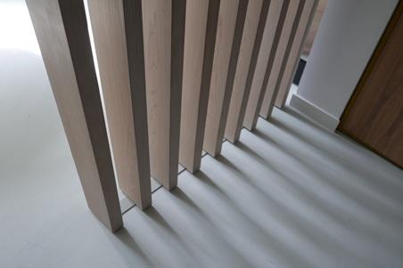 interieuroplossingen: Lamellenwand detail