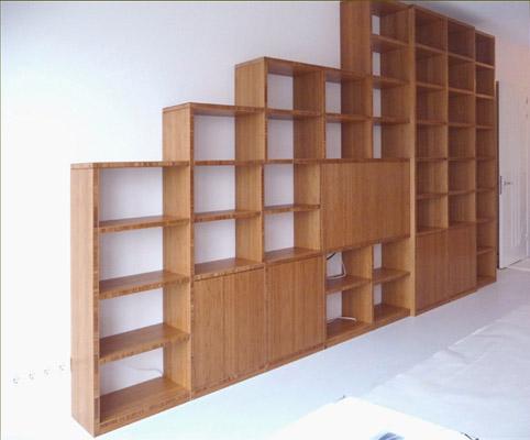 bamboe boekenkast